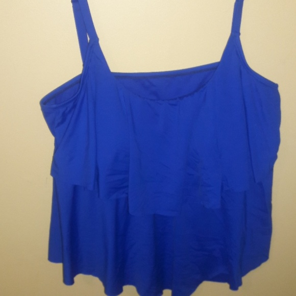 ca00a037c09e3 Liz Claiborne Other - 🔥Liz Claiborne Plus Sz 20 Bikini Top Pretty Blue!